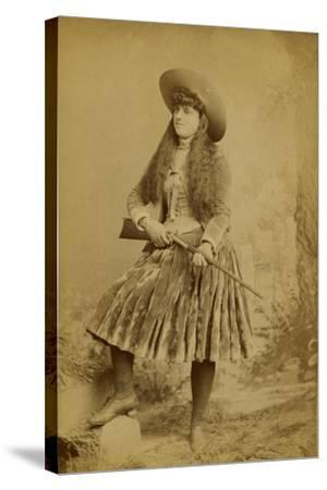 Female Wild West Sharpshooter With Rifle, 1889-J. Ulrich-Stretched Canvas Print