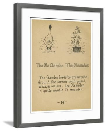 The Ole Gander. The Oleander.-Robert Williams Wood-Framed Art Print