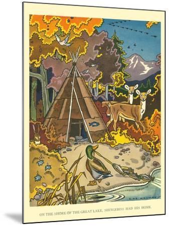 Shingebiss' Home- Hauman-Mounted Art Print