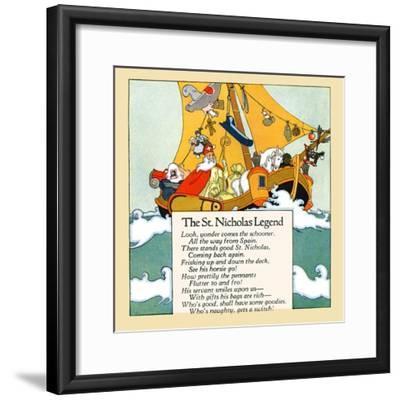 The St. Nicholas Legend- Maud & Miska Petersham-Framed Art Print