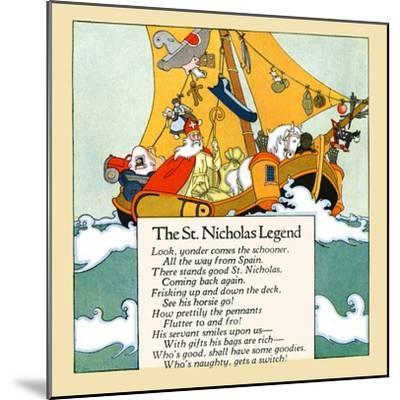 The St. Nicholas Legend- Maud & Miska Petersham-Mounted Art Print