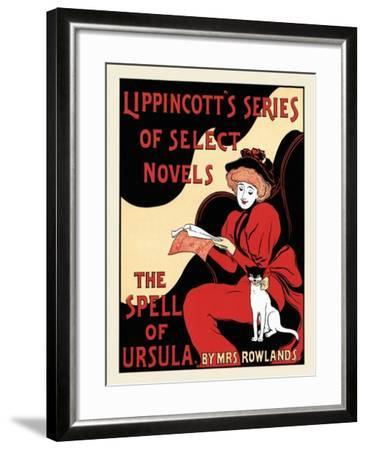Lippincott's Series Of Select Novels. The Spell Of Ursula, By Mrs. Rowlands.--Framed Art Print
