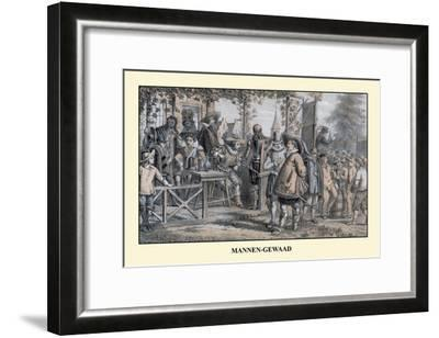 Men's Wear In Medieval Holland--Framed Art Print