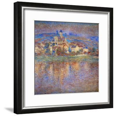 Sunset in Vetheuil, 1900-Claude Monet-Framed Giclee Print