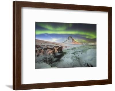 Kirkjufell Aurora III-Philippe Manguin-Framed Photographic Print
