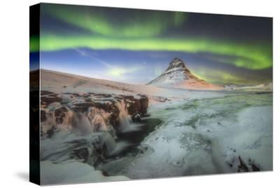 Kirkjufell Aurora III-Philippe Manguin-Stretched Canvas Print