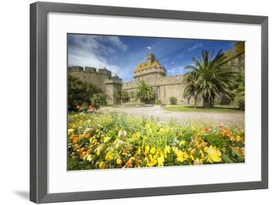 Saint Malo Castle In Bretagne-Philippe Manguin-Framed Photographic Print