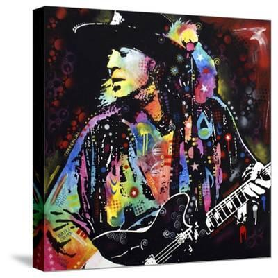 Stevie Ray Vaughan-Dean Russo-Stretched Canvas Print