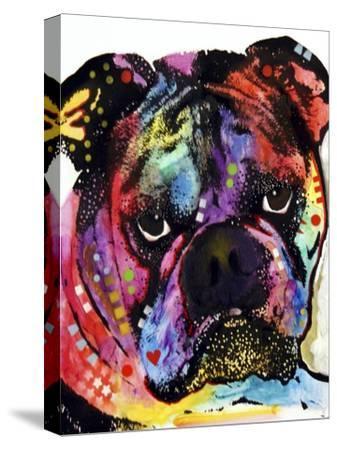Bulldog-Dean Russo-Stretched Canvas Print