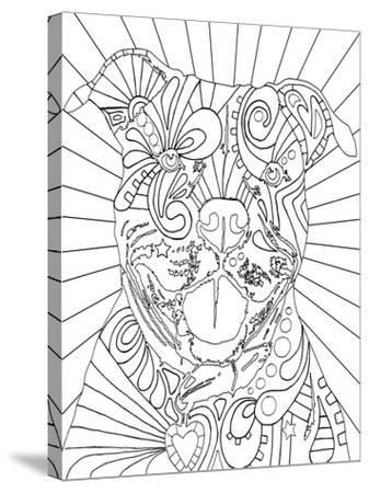 Beware CB-Dean Russo-Stretched Canvas Print