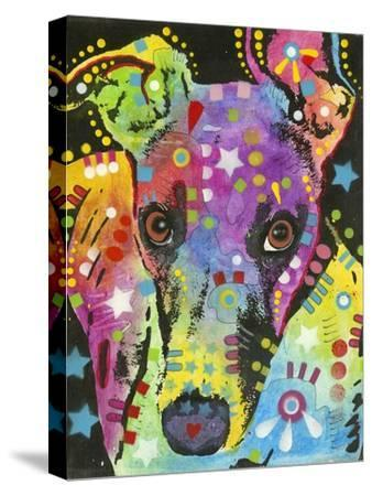 Curious Greyhound-Dean Russo-Stretched Canvas Print