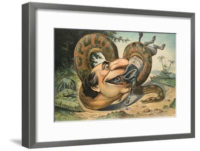 Swallowed!-JS Pughe-Framed Art Print