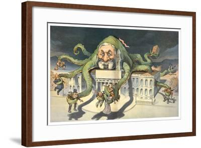 Long Arms Of Politicians-JS Pughe-Framed Art Print