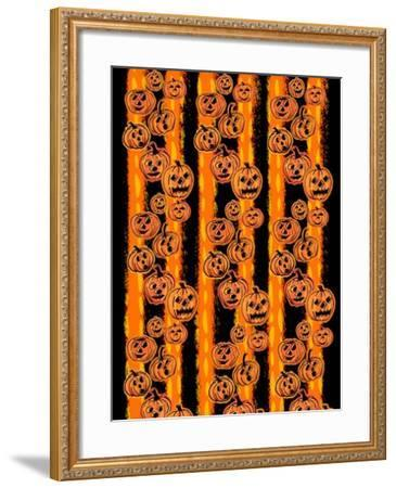 Pumpkin Patch Pals II-Nicholas Biscardi-Framed Art Print