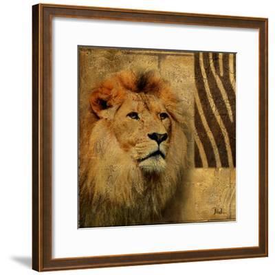 Elegant Safari II (Lion)-Patricia Pinto-Framed Art Print
