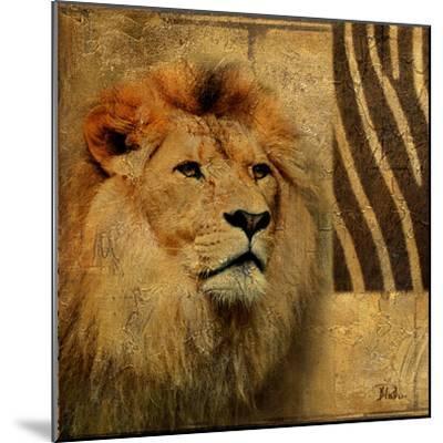 Elegant Safari II (Lion)-Patricia Pinto-Mounted Art Print