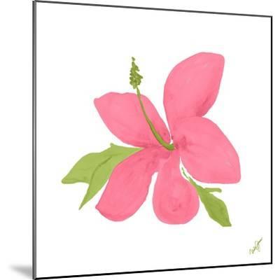 Pink Hibiscus-Nola James-Mounted Art Print