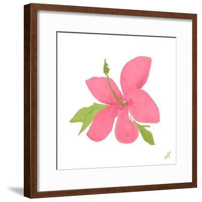 Pink Hibiscus-Nola James-Framed Art Print