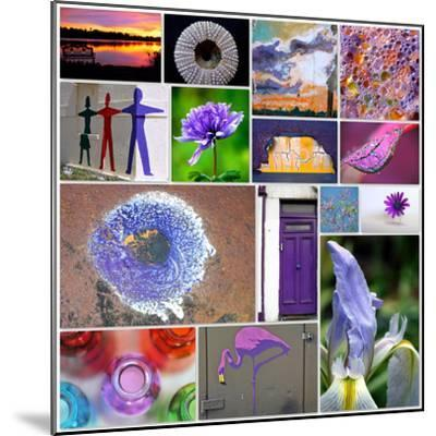 Purple Blossom Collage-Gail Peck-Mounted Photo
