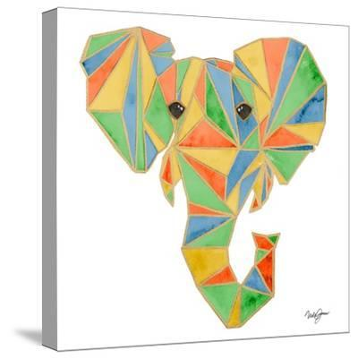 Vibrant Retro Elephant-Nola James-Stretched Canvas Print