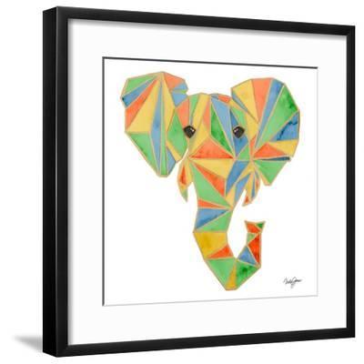 Vibrant Retro Elephant-Nola James-Framed Art Print