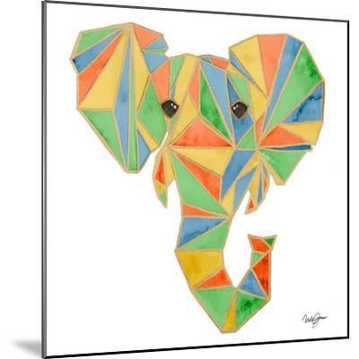 Vibrant Retro Elephant-Nola James-Mounted Art Print