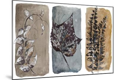Watercolor Sepia Leaves I-Patricia Pinto-Mounted Art Print