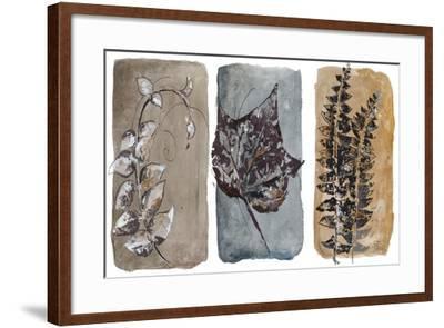 Watercolor Sepia Leaves I-Patricia Pinto-Framed Art Print