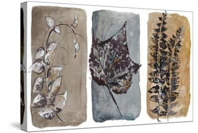 Watercolor Sepia Leaves I-Patricia Pinto-Stretched Canvas Print