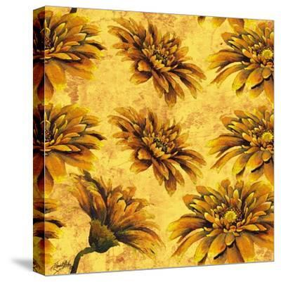 Yellow Floral Pattern I-Elizabeth Medley-Stretched Canvas Print