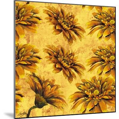 Yellow Floral Pattern I-Elizabeth Medley-Mounted Art Print