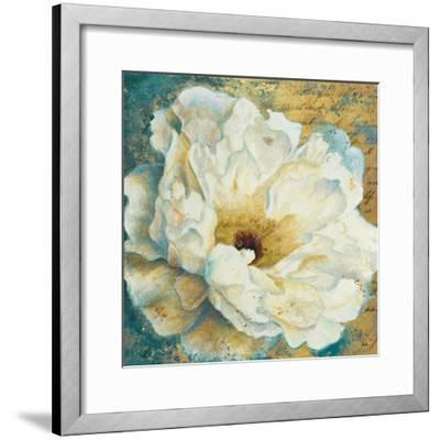Zuzu Peony Gold I-Patricia Pinto-Framed Art Print