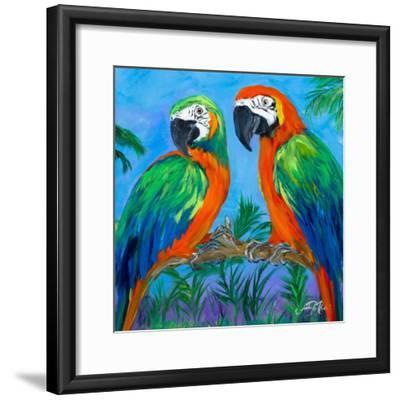 Island Birds Square I-Julie DeRice-Framed Art Print