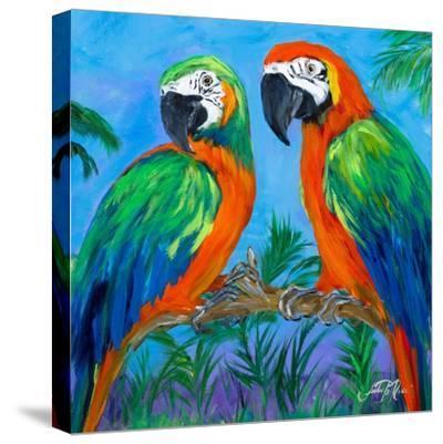 Island Birds Square I-Julie DeRice-Stretched Canvas Print