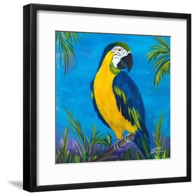 Island Birds Square II-Julie DeRice-Framed Art Print