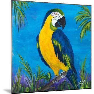 Island Birds Square II-Julie DeRice-Mounted Art Print