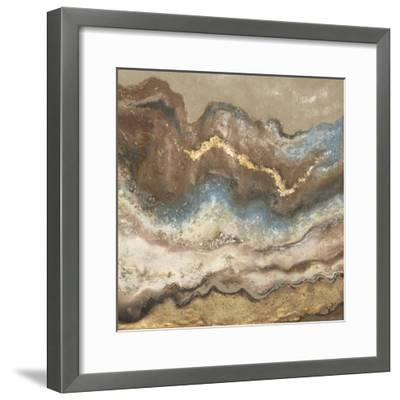 Neutral Tierra Square-Patricia Pinto-Framed Art Print