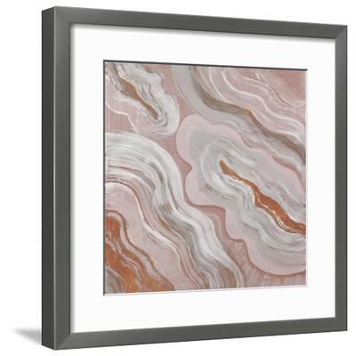 Moody Orange Agate-Lanie Loreth-Framed Art Print