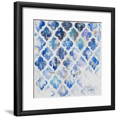 Blue Quatrefoil II-Patricia Pinto-Framed Art Print