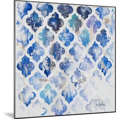 Blue Quatrefoil II-Patricia Pinto-Mounted Art Print