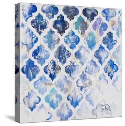 Blue Quatrefoil II-Patricia Pinto-Stretched Canvas Print