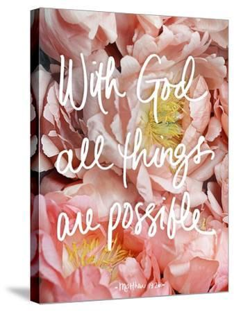 With God all things are possible-Sarah Gardner-Stretched Canvas Print