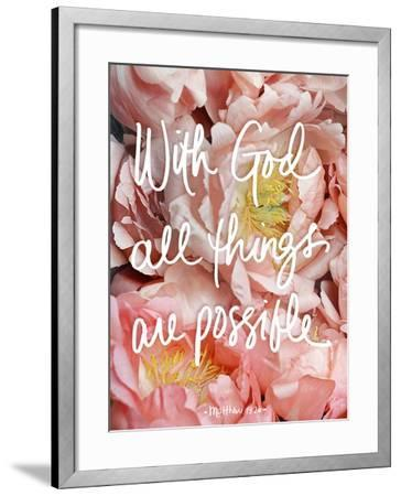With God all things are possible-Sarah Gardner-Framed Art Print