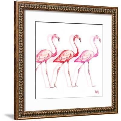 Flamingo Trio I-Tiffany Hakimipour-Framed Art Print