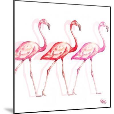 Flamingo Trio I-Tiffany Hakimipour-Mounted Art Print