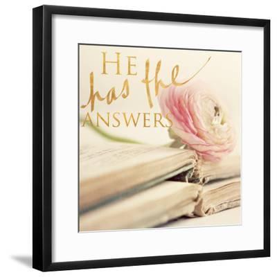 He has the Answers-Sarah Gardner-Framed Photo