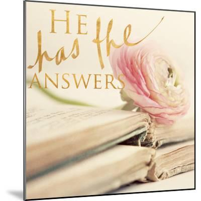 He has the Answers-Sarah Gardner-Mounted Photo