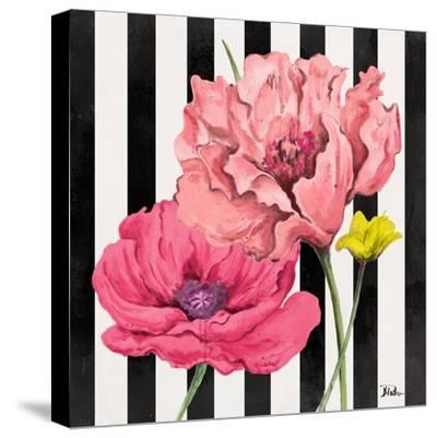 Poppies on Stripes I-Patricia Pinto-Stretched Canvas Print
