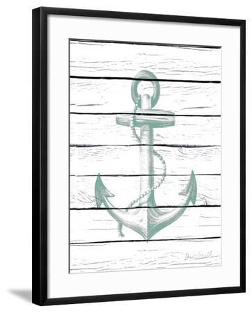 Anchor on Wood-Lanie Loreth-Framed Art Print