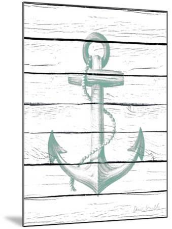 Anchor on Wood-Lanie Loreth-Mounted Art Print